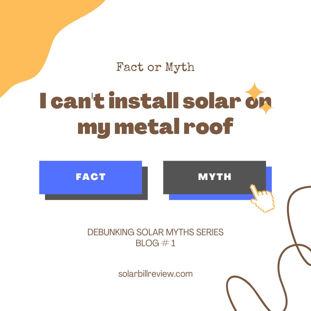 Debunking solar myth first
