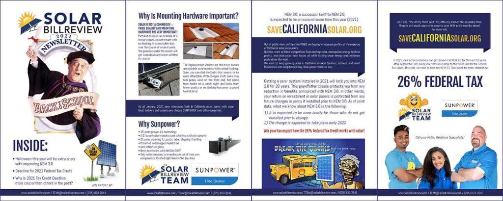 Solar Bill Review Team Newsletter for Sept
